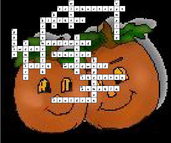 halloween crossword for high school 1000 ideas about